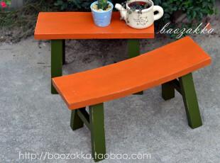 bao zakka 杂货 原木撞色小木凳 矮凳 花台凳 2款可选,椅凳,