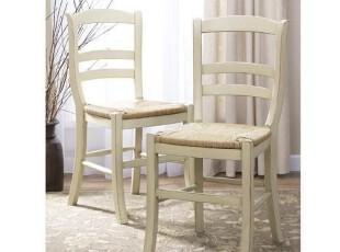 (仿Harbor House家具EDC002)Auberge餐椅(白)/美式餐椅,椅凳,