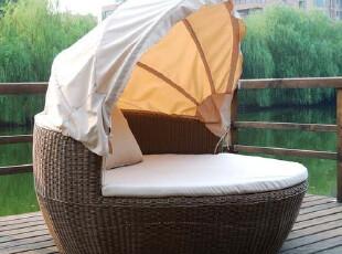 户外家具 休闲家具 藤编躺床 藤编雷达椅-057,椅凳,