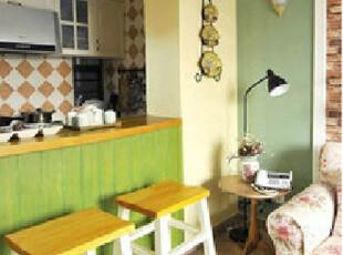 美式乡村 比邻乡村风格实木吧椅/吧凳美克美家实木家具黄白可定制,椅凳,