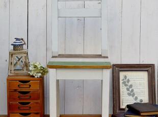 BAO ZAKKA 杂货 日单 做旧 老木色 单人 靠背 小木椅80238,椅凳,