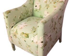 GAIA奢华定制 小清新布艺沙发椅 田园 迷你款,椅凳,