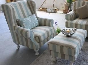 粤鑫家居沙发椅02老虎椅宜家单人沙发休闲沙发沙发椅地中海沙发,椅凳,