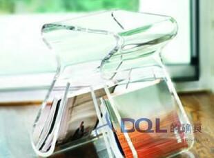 的确良-时尚个性创意 水晶亚克力M型茶几角几沙发边几 杂志书刊架,椅凳,