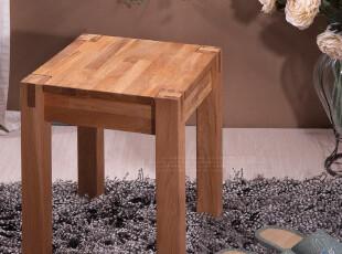 【家具精品馆】水生之城 出口欧洲实木橡木环保/梳妆凳方凳,椅凳,
