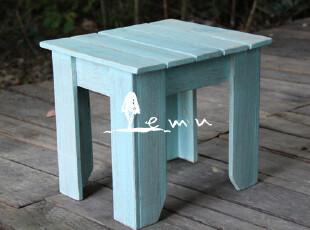 地中海家具 实物拍摄! 实木 花园小凳子 小板凳 户外家具00-1,椅凳,