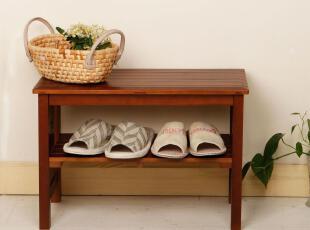 美居新思 简约实木换鞋凳 天然松木穿鞋凳 玄关脚踏凳(单人),椅凳,