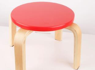 美居新思 木制彩色儿童凳 环保健康凳 曲柳木凳子 可拆装,椅凳,