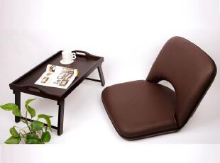 美居新思 日式简约休闲系列厚垫皮革和室椅 榻榻米 无腿折叠椅子,椅凳,