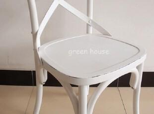 特价法式美式韩式实木餐椅交叉背椅子Y椅藤椅书房椅白色田园餐厅,椅凳,
