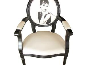 餐椅/实木椅/扶手椅/赫本椅/印花椅/Audrey Hepburn chair,椅凳,
