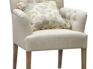 出口欧洲纳瓦白纯亚麻拉扣橡木扶手椅现货,椅凳,