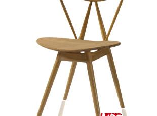 NBF北岸 Miki 米其椅日式餐椅 个性实木餐椅 创意餐厅吃饭椅白色,椅凳,