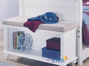 厂家定制/美式乡村/欧式田园/地中海风格/实木环保家具 床尾凳,椅凳,