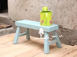 实拍!地中海家具 实木海洋风童趣小板凳 小凳子【预定】00-1,椅凳,