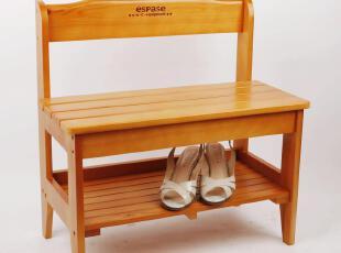 美居新思换鞋凳 日式经典实木玄关穿鞋凳 天然松木脚踏凳,椅凳,
