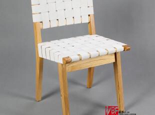 NBF北岸家具 Risom Side Chair里索姆餐椅 实木餐椅 简约白色椅子,椅凳,
