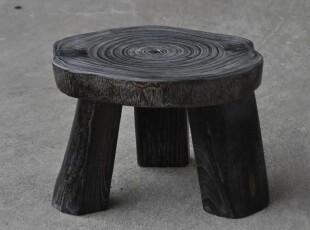 【丸十工艺】木制  小凳子 矮凳 三脚大圆凳03,椅凳,