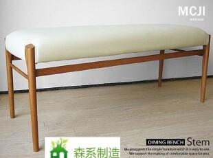 森系制造实木宜家家具简约橡木餐凳长凳实木特卖zakka风,椅凳,