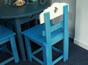 地中海家具 实拍! 实木 海的小桌配套的小餐椅 咖啡椅椅子00-1,椅凳,