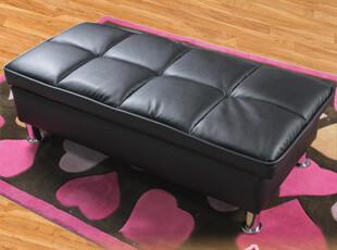 皮艺脚踏 多功能收纳脚踏 日本卧室家具 日式沙发脚凳 床脚,椅凳,