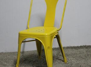 欧式铁椅Tolix Chair无扶手金属椅时尚简约现代餐椅子 洽谈休息椅,椅凳,