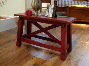 比邻乡村家具 茶几 条凳 边几 美式乡村换鞋凳 实木地中海家具,椅凳,