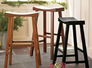 (仿PotteryBarn家具FDC022)Tibetan美式吧台登/超HarborHouse,椅凳,