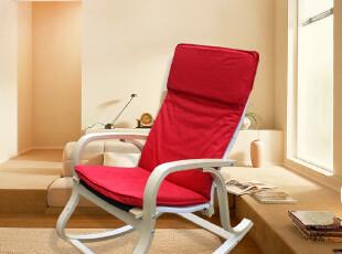 优时居实木桦木弯曲木逍遥椅躺椅休闲椅软垫椅扶手椅简约舒适,椅凳,