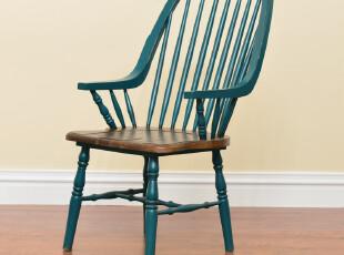 奇居良品 欧式美式实木家具餐椅吧台休闲椅诺纳斯系列,椅凳,