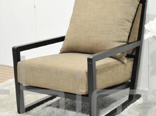 锐驰家具款简约风格宜家午休款/客厅书房黑色实木布艺电脑沙发椅,椅凳,