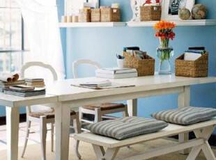 剪刀腿餐桌椅 地中海凳子 欧式实木椅子 美式乡村长凳 全实木家具,椅凳,