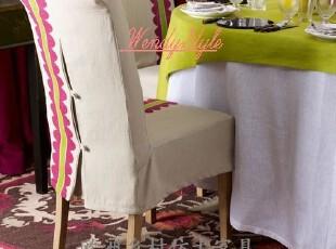 特价~出口法国法式乡村风格橡木软包弯耳餐椅书房椅休闲椅-多款,椅凳,