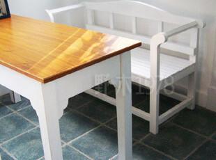 地中海家具实拍! 实木 西西里休闲长椅 双人椅【预定】00,椅凳,