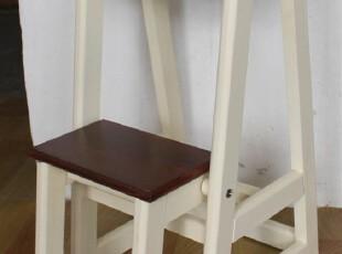 新品 椅子 梯子 木质双层 花架 百用 原木家具 花凳 踩脚凳 梯子,椅凳,