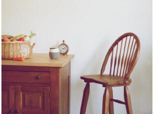 Broyhill橡木经典温莎吧台椅 外贸尾单只有几对 外地客户只发德邦,椅凳,