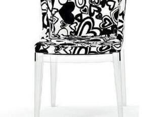 Kartell 花色单人椅 黑色单人椅,椅凳,