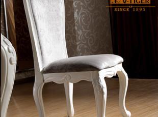 陆虎家具 新古典实木餐椅 欧式 客厅餐椅 后现代家具B633,椅凳,