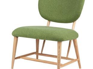 北欧家具 丹麦单人沙发椅 水曲柳 可爱休闲椅 时尚简约现代咖啡厅,椅凳,