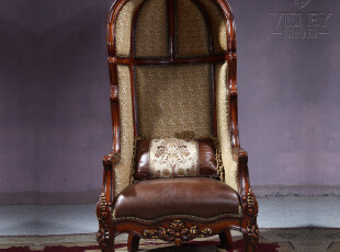 卫诗理家具-欧式家具 美式椅子 真皮椅子 布艺椅子 M0209,椅凳,