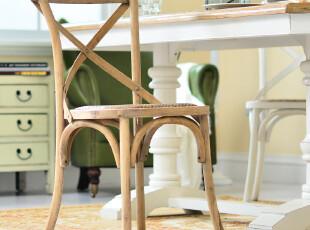 奇居良品 欧式美克美家风实木家具餐椅休闲椅卡洛斯系列无扶手餐,椅凳,