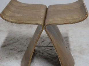 EHdecor家具 Butterfly Stool蝴蝶椅时尚休闲矮凳子 欧式穿鞋木凳,椅凳,