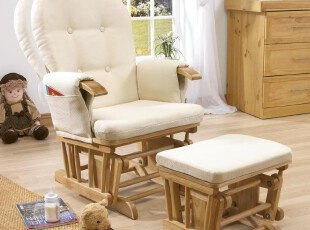 欧洲新款摇椅/两件套休躺椅/全实木休闲椅逍遥椅带坐垫放脚凳,椅凳,