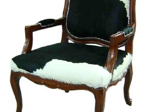斑马纹皮草面料沙发椅 休闲椅子  卧室个性沙发椅 新古典风格椅子,椅凳,