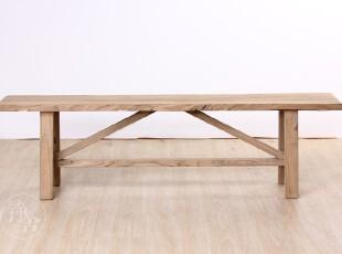 铮舍Design 后现代简约老榆木凳子 条凳  实木长板凳 换鞋凳,椅凳,