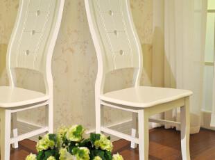 餐椅(2把起卖)椅子田园凳 烤漆 宜家凳子特价 特价 简约 象牙白,椅凳,