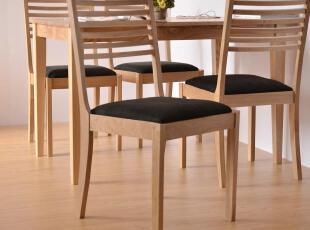 橡木实木餐椅 简约 田园 舒适 HR6121S,椅凳,