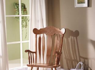 """特价/出口欧式古典环保/实木橡木柞木/摇椅""""秋日""""(大)1-047,椅凳,"""