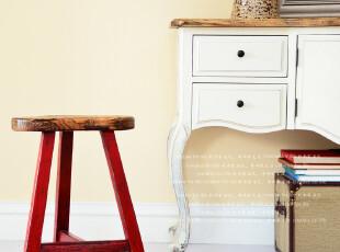 奇居良品 欧式美式实木家具餐椅吧台休闲椅诺纳斯系列梅花凳,椅凳,
