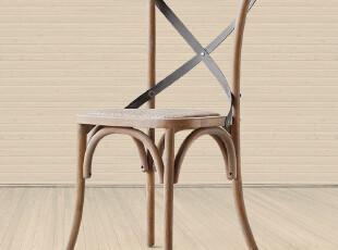 帕古达经典实木家具/店庆8折乡村农庄/仿旧铁艺橡木餐椅/靠背椅,椅凳,